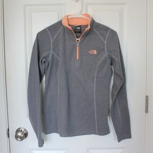 North Face Gray Quarter Zip